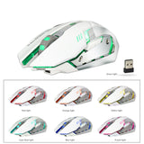 Wireless USB Optical Gaming Mouse LED Backlit Rechargeable
