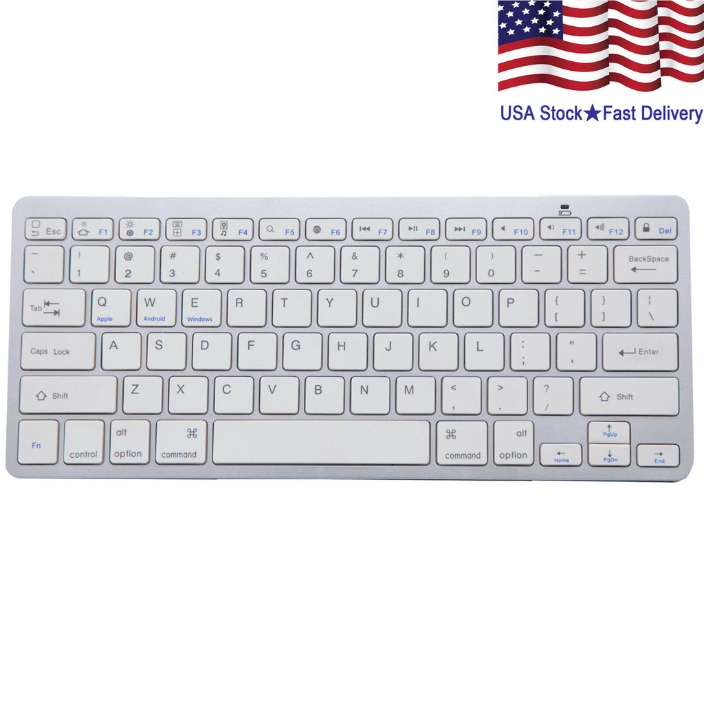 Wireless Bluetooth Slim Keyboard for PC iOS iPads Android Macs NEW