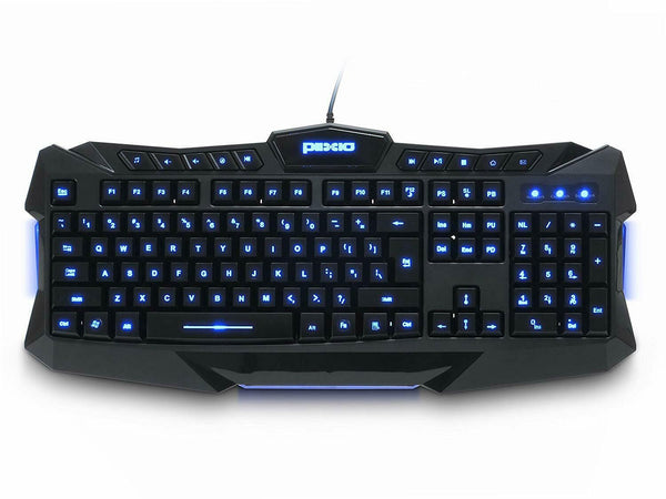 Plixio Backlit Computer Keyboard with LED Light-Up Keys for Gaming Professional