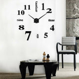 3D Large Wall Clock - ROMAN Numbers for Modern Home