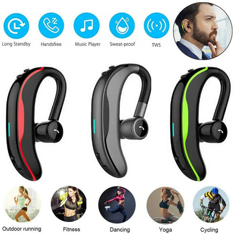 Bluetooth Headset Wireless Earpiece Hands-Free Calling With Clear Voice Earbuds