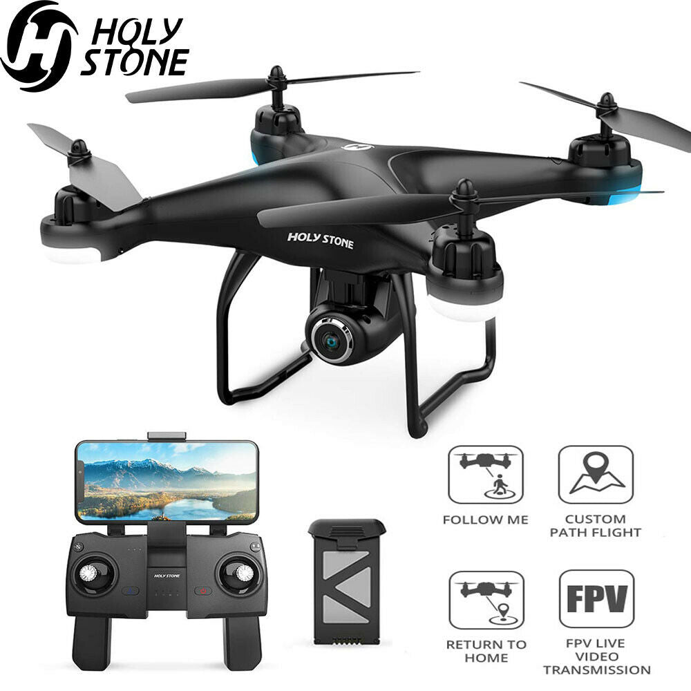 Holy Stone FPV Drones with 1080p HD Camera GPS RC Quadcopter Follow Me Mode