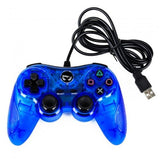 TTX Tech PC and PlayStation 3 PS3 USB Wired Controller BLUE Brand New