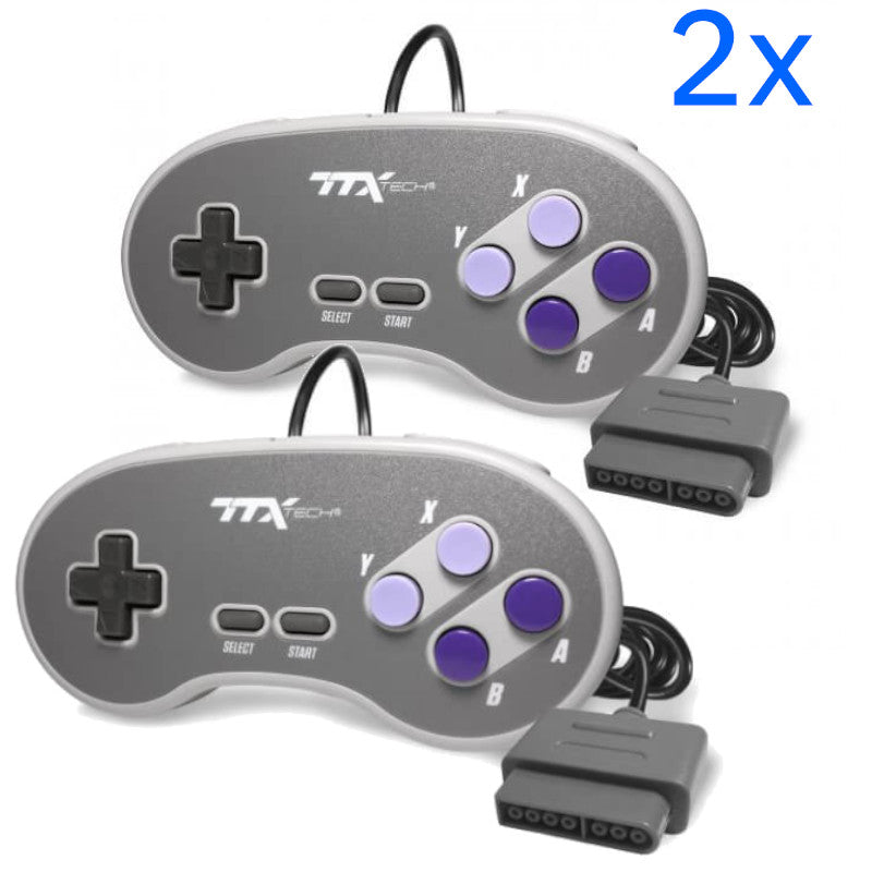 2x Replacement Controller for Super Nintendo SNS-005 SNES System Console