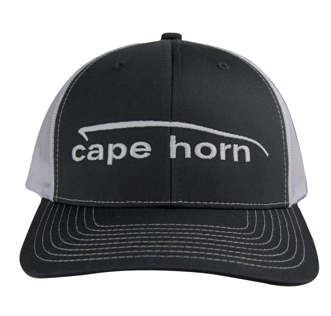 Cape Horn Structured Trucker Hat - Charcoal