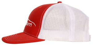 Cape Horn Structured Trucker Hat - Red