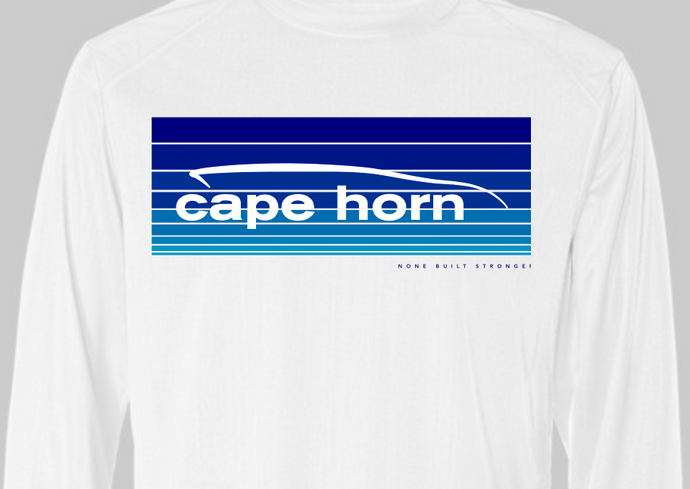 Cape Horn Indigo Blue Fade Stripes Performance Shirt
