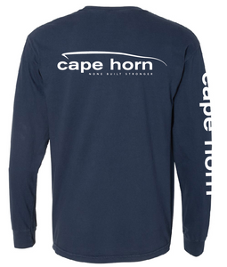 Cape Horn Classic Logo Long Sleeve T-Shirt - Navy