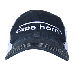 Cape Horn Unstructured Trucker Hat - Navy Blue