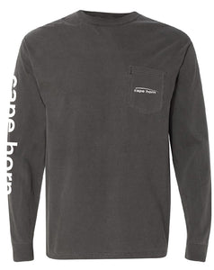Cape Horn Classic Logo Long Sleeve T-Shirt - Pepper Grey