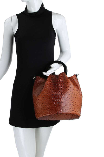 Fashionable  Croco Pattern Chic Satchel