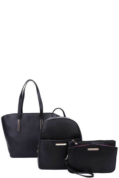 Elegant Backpack And Clutch Set