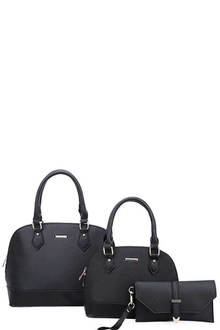 Satchel Bags Clutch Set