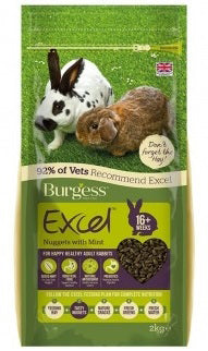 Excel Adult Rabbit Nuggets with Mint - 2 kg