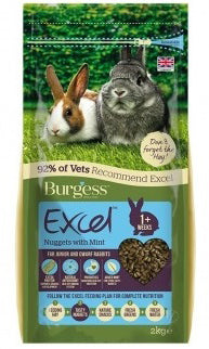 Excel Junior & Dwarf Rabbit Nuggets - 2 kg