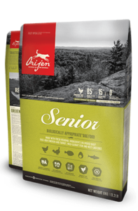 Orijen Dog Food: Senior Dog. Available online from Yes.Pet