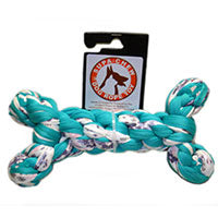 Supa-Chew Dog Toy: Cotton Chew Bone (Mega ~20cm). Available online from Yes.Pet