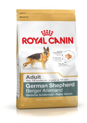 Royal Canin Dog Food: German Shepherd Adult ( 10 months to Adult and Mature). Available online from Yes.Pet