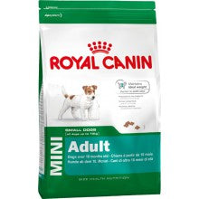 Royal Canin Dog Food: Mini Adult (From 10 months). Available online from Yes.Pet