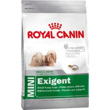 Royal Canin Dog Food: Mini Adult Exigent (very fussy adult dogs). Available online from Yes.Pet