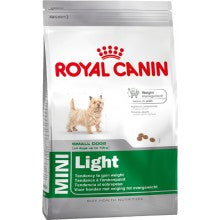 Royal Canin Dog Food: Mini Light Weight Care (Overweight Adults). Available online from Yes.Pet