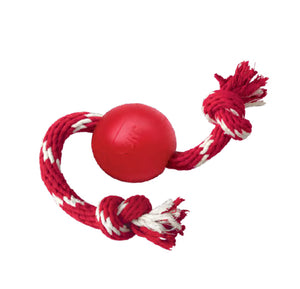 Kong Dog Toy: Ball with rope. Available online from Yes.Pet