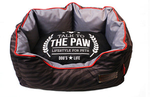Dog's Life Dog Bed: Harper Sofa 600D Waterproof. Available online from Yes.Pet