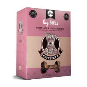 Cuthbert's Dog Treats: Roast Lamb & Veggies (Big Bites). Available online from Yes.Pet
