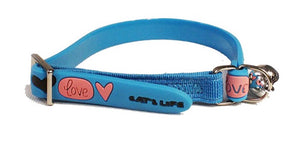 Cat's Life PVC Collar: Little All Love - Non-Toxic PVC. Available online from Yes.Pet