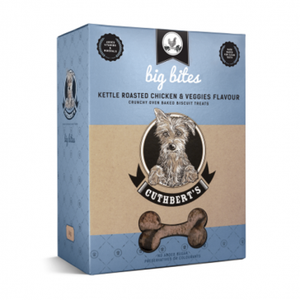 Cuthberts Dog Treats: Kettle Roasted Chicken & Veggies (Big Bites). Available online from Yes.Pet
