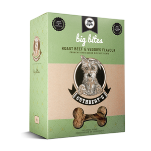 Cuthberts Dog Treat: Roast Beef & Veggies (Big Bites). Available online from Yes.Pet