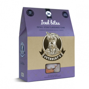 Cuthberts Dog Treats: Iced Biscuits - Oxtail. Available online from Yes.Pet