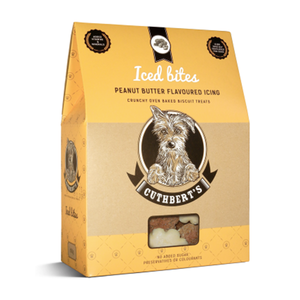 Cuthberts Dog Treats: Iced Biscuits - Peanut Butter. Available online from Yes.Pet