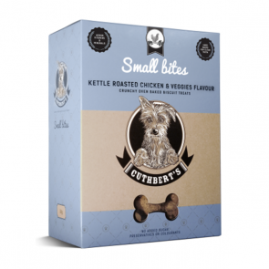 Cuthberts Dog Treats: Kettle Roasted Chicken & Veggies (Small Bites). Available online from Yes.Pet
