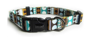 Dog's Life Dog Collar: Designer Pooch Webbing Collar - Dots. Available online from Yes.Pet