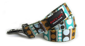 Dog's Life Dog Leash: Designer Pooch Leash - Dots. Available online from Yes.Pet