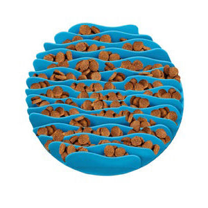Outward Hound Feeder Bowl: Fun Feeder Mini - Teal. Available online from Yes.Pet