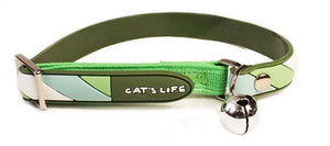 Cat's Life PVC Collar: Candy Stripe - Non-Toxic PVC. Available online from Yes.Pet