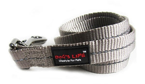 Dog's Life Dog Leash: Supersoft Webbing Leash - Grey. Available online from Yes.Pet