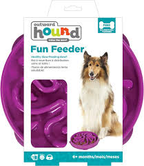 Outward Hound Feeder Bowl: Fun Feeder - Purple. Available online from Yes.Pet