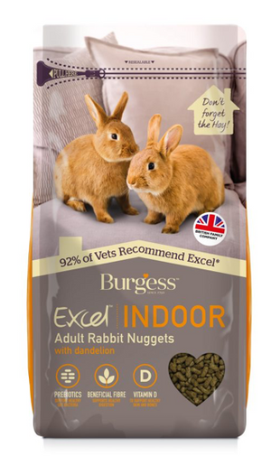 Excel Indoor - Adult Rabbit Nuggets with Dandelion