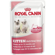 Royal Canin Cat Food: Kitten Instinctive 12 - From 4 to 12 months (12 x 85 g). Available online from Yes.Pet