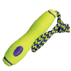 Kong Dog Toy: Squeaker Fetchstick with Rope. Available online from Yes.Pet
