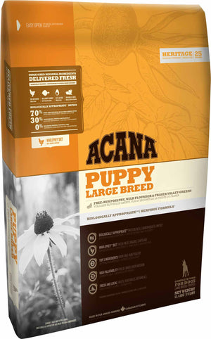 Acana Dog Food: Puppy Large Breed - For puppies whose adult weight will be over 25 kg. Available online from Yes.Pet