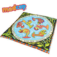 Petstages Cat Toy: Madcap Swishy Fish Mat. Available online from Yes.Pet