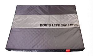 Dog's Life Dog Bed: Waterproof Ballistic Nylon Memory Foam Cushion. Available online from Yes.Pet