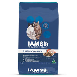 Iams Multicat Households - Adult & Senior -Salmon & Chicken