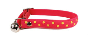 Cat's Life PVC Collar: Polka Dots - Non-Toxic PVC. Available online from Yes.Pet