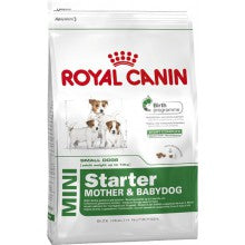 Royal Canin Dog Food: Mini Starter Mother and Babydog (From weaning to 2 months). Available online from Yes.Pet