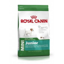 Royal Canin Dog Food: Mini Junior (2 to 10 months). Available online from Yes.Pet